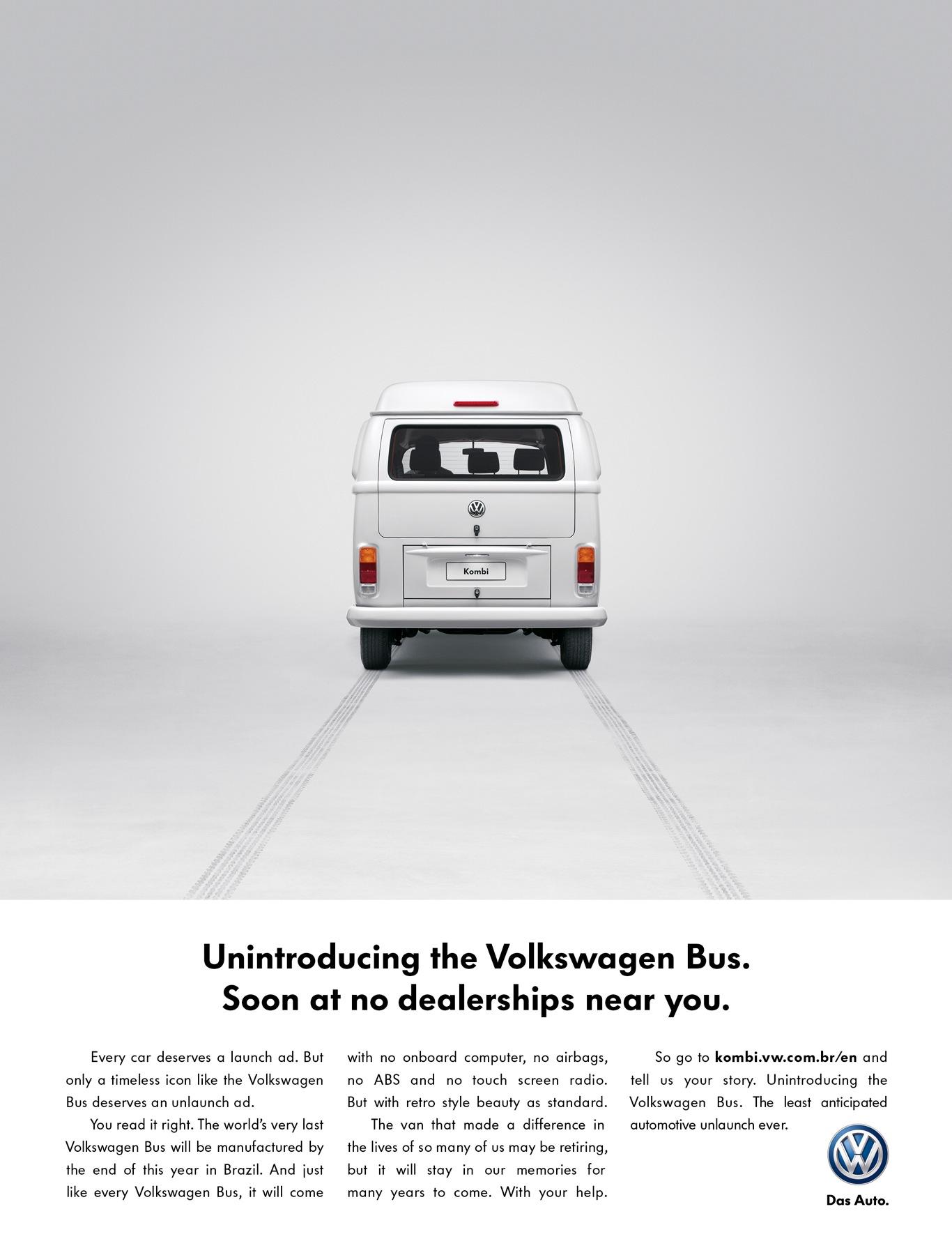 Volkswagen Bus unlaunching ad