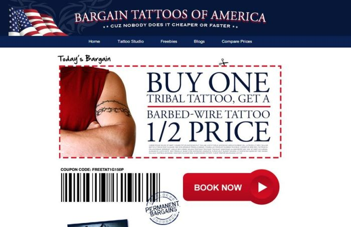Old Spice Interneterventions Bargain Tattoos