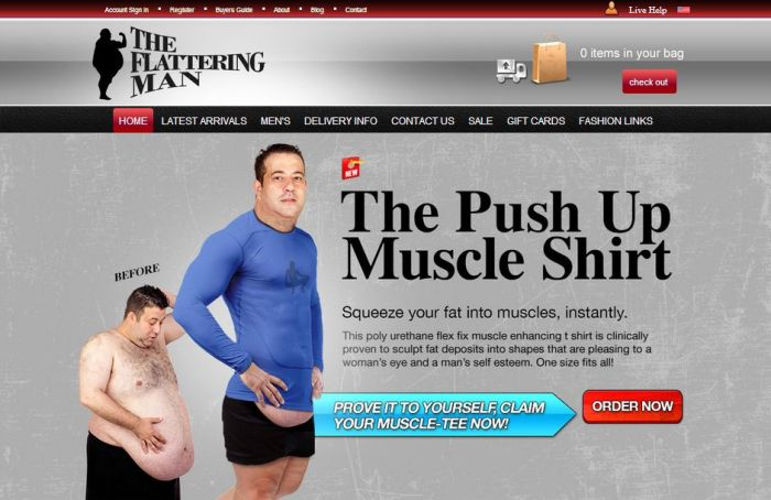 Old Spice Interneterventions Push Up Muscle Shirt