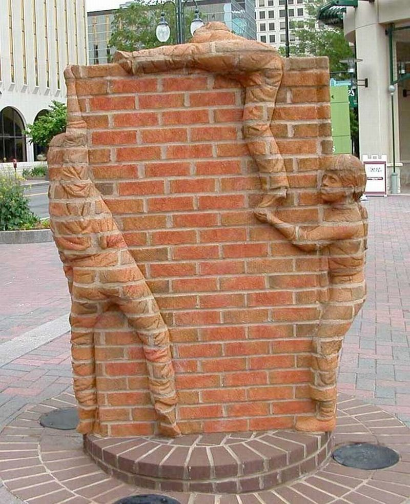 Brad Spencer Brick Sculpture 16