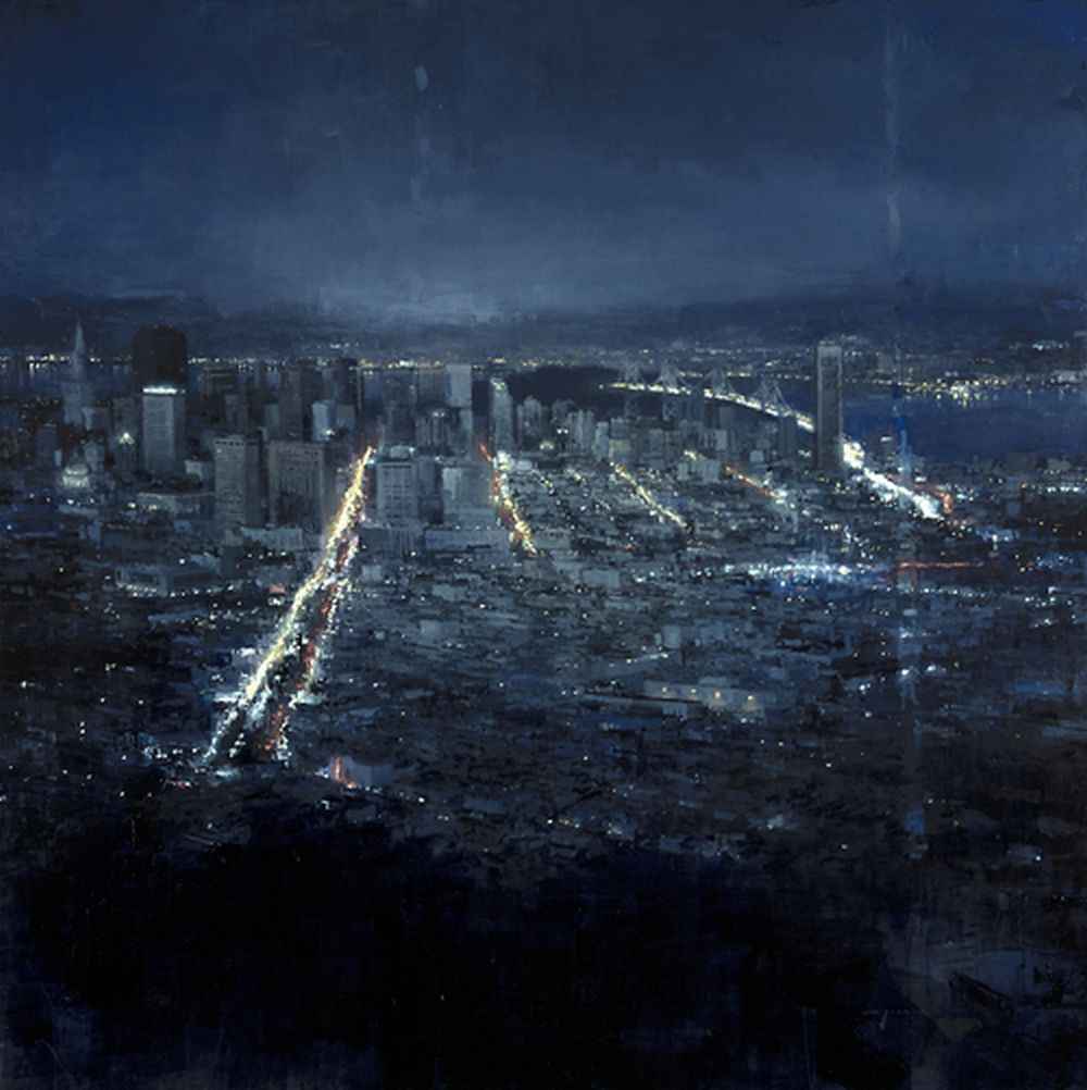 Jeremy Mann Evening Over San Francisco