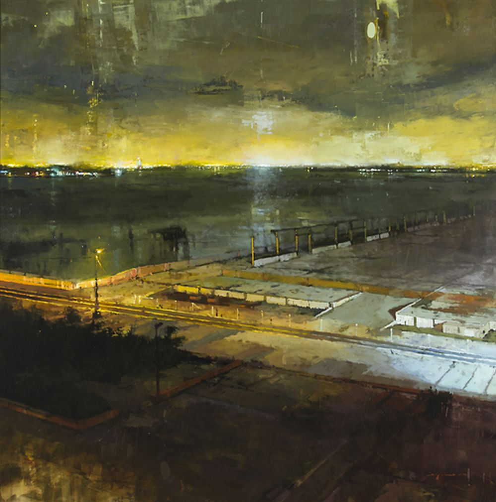 Jeremy Mann Hudson River Night