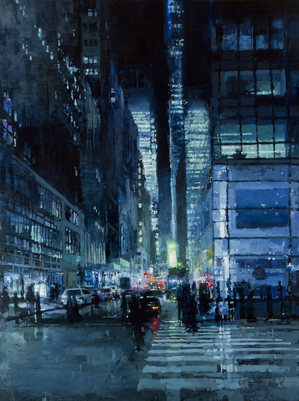 Jeremy Mann New York Night in Blue