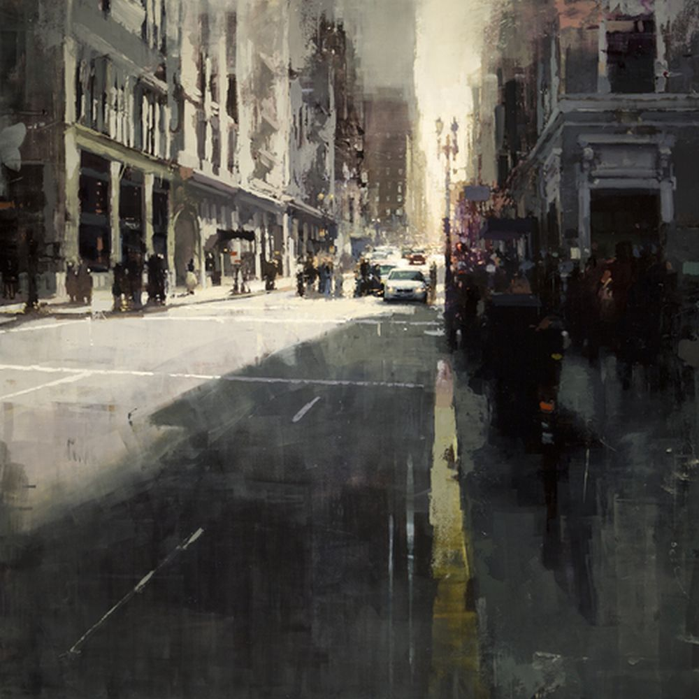 Jeremy Mann Sunset by Union Square