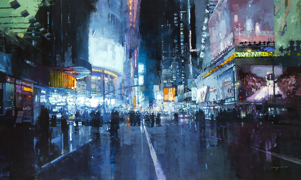 Jeremy Mann Times Square Lights
