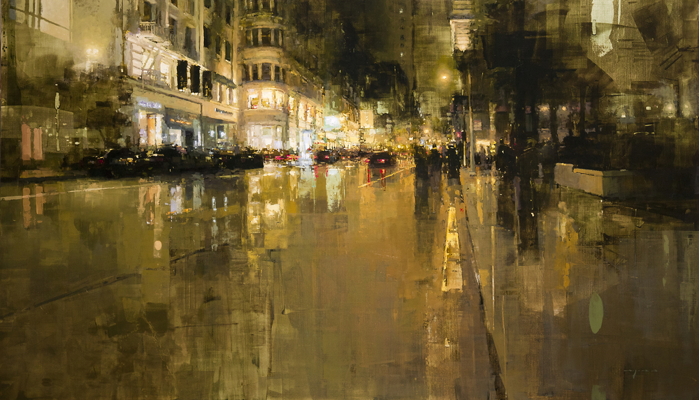 Jeremy Mann Union Square in Yellow