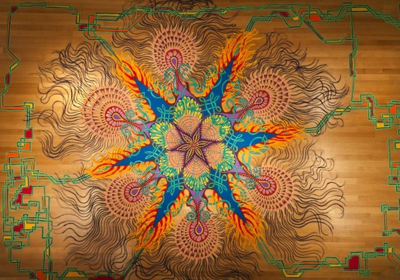 Joe Mangrum Sand Painting Asynchronous Syntropy