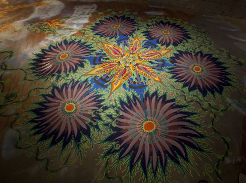 Joe Mangrum Sand Painting Earth