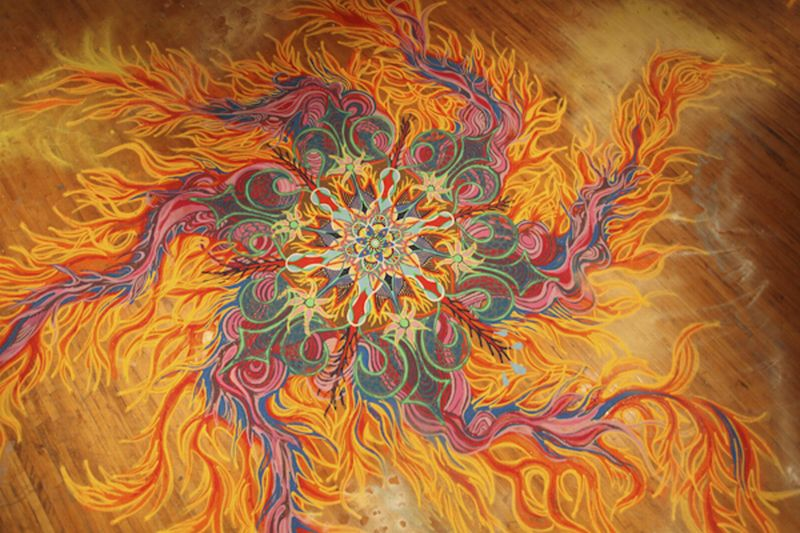 Joe Mangrum Sand Painting Fire