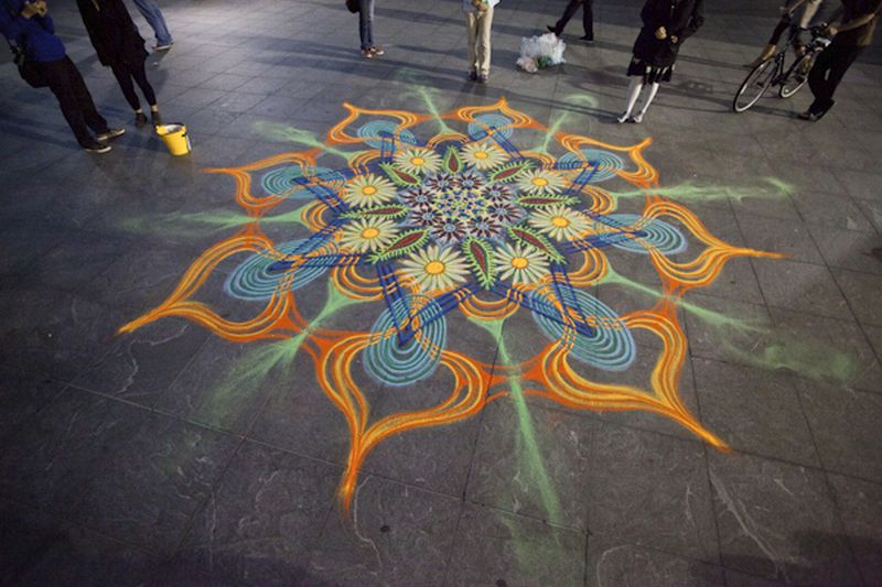 Joe Mangrum Sand Painting WashSqPark