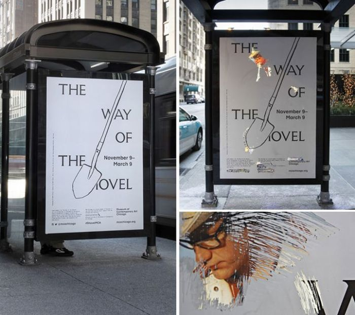 Way of the Shovel bus stop ad 1