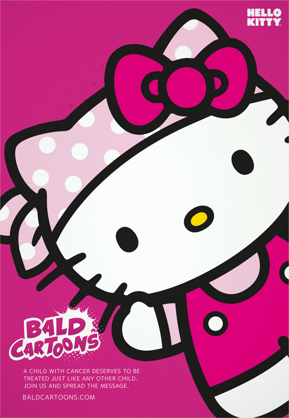 Bald Cartoons Hello Kitty