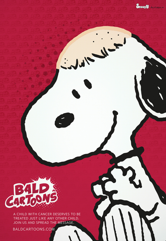Bald Cartoons Snoopy