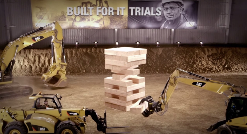 Built For It CAT Jenga 15