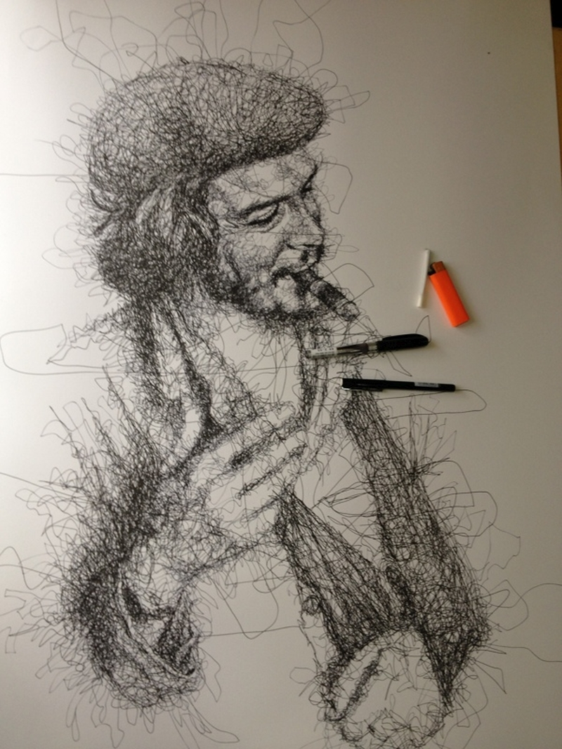 Vince Low Simply Scribbly Portraits 10