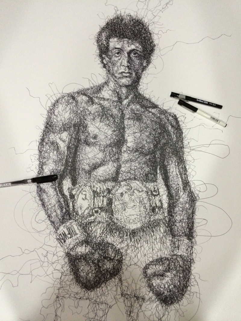 Vince Low Simply Scribbly Portraits 14