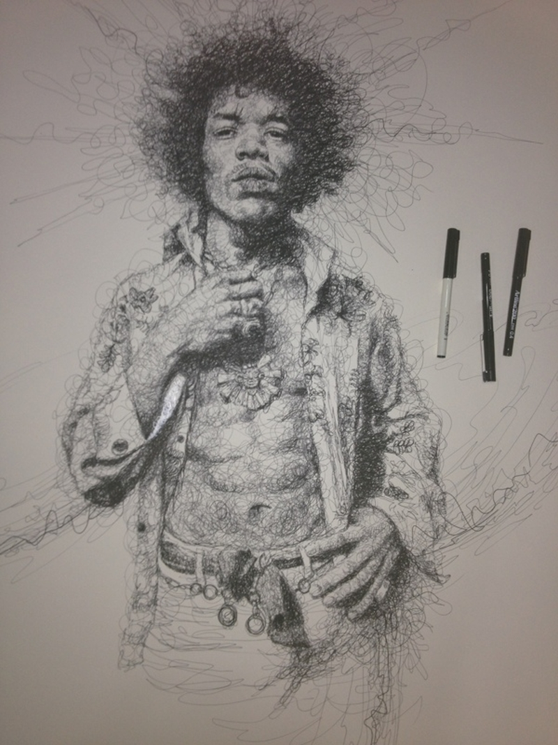 Vince Low Simply Scribbly Portraits 3