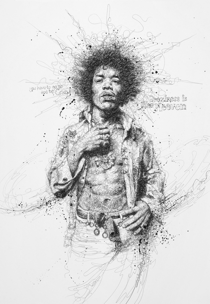 Vince Low Simply Scribbly Portraits 4