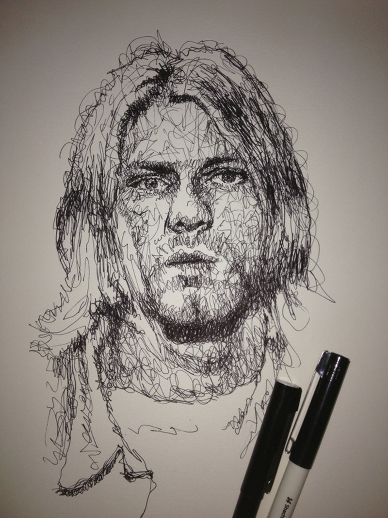 Vince Low Simply Scribbly Portraits 5