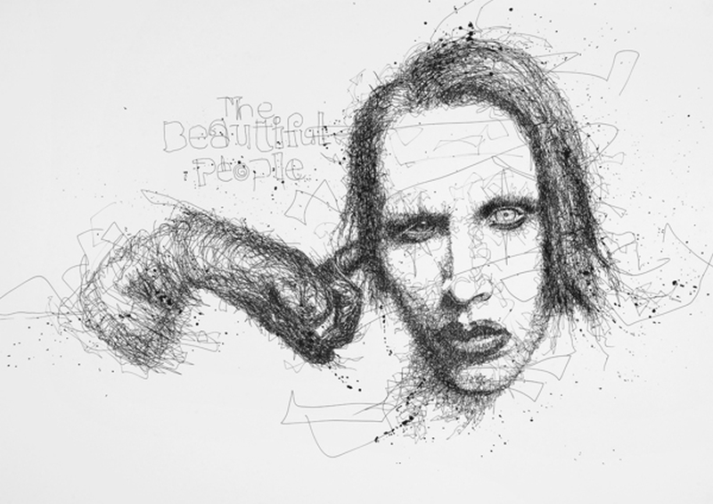 Vince Low Simply Scribbly Portraits 9