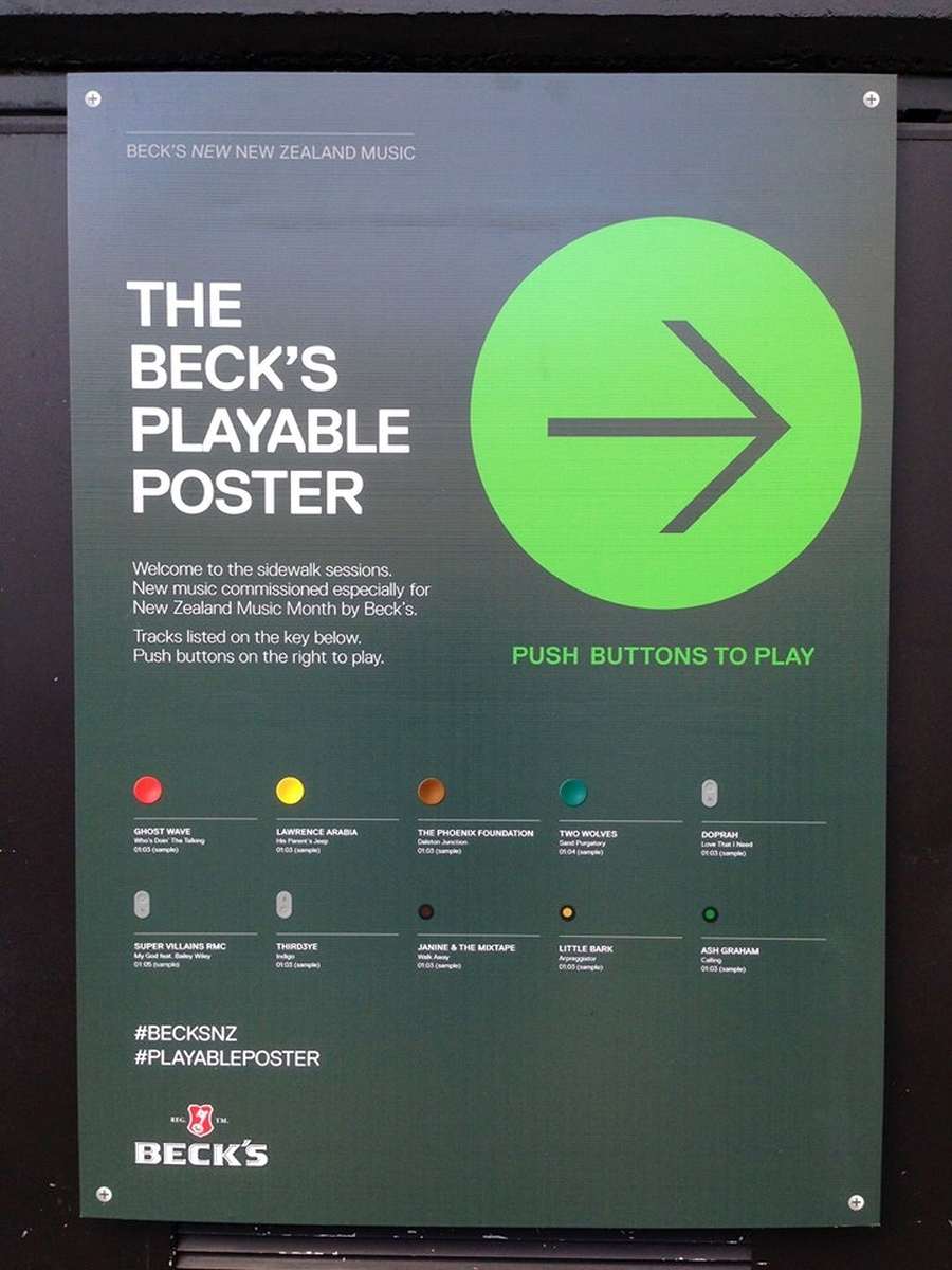 Becks Playable Poster 11