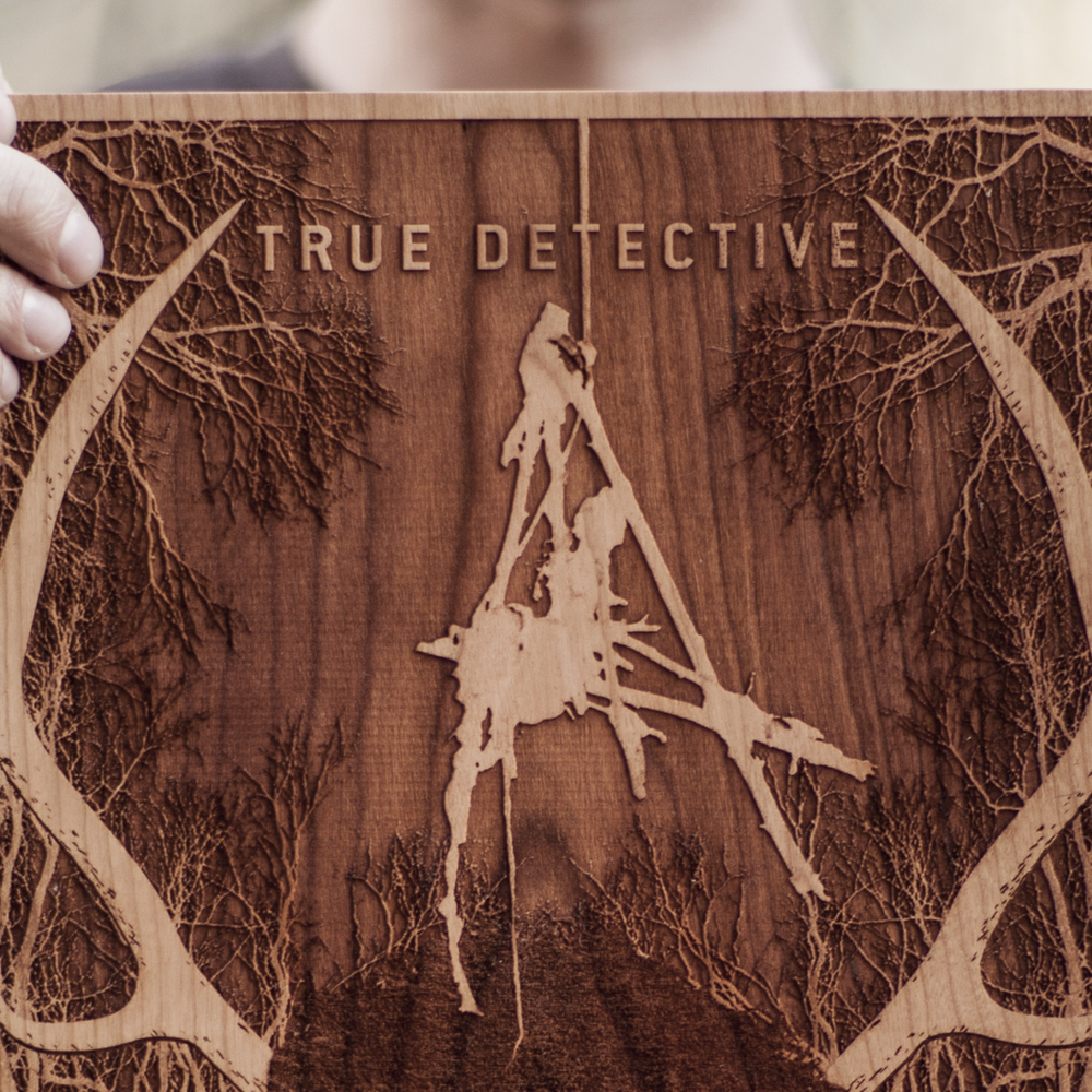 SpaceWolf Wood Poster True Detective 3