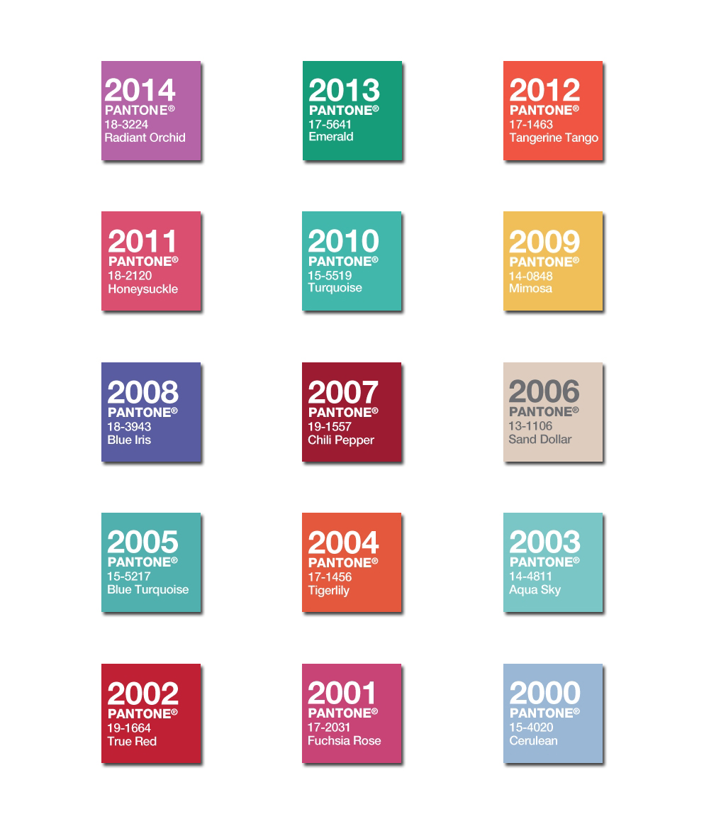 Pantone_Color-of-Year_2000-2014